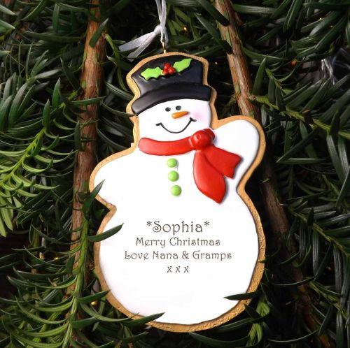 Snowman - Personalised Tree Decoration