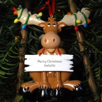 Moose - Personalised Christmas Decoration
