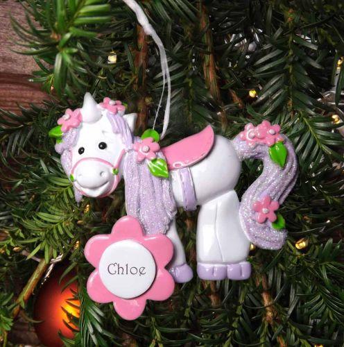 Unicorn- Personalised Christmas Decoration