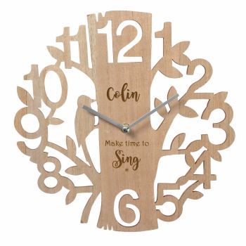 Personalised Wooden Wall Clock - Make time to...