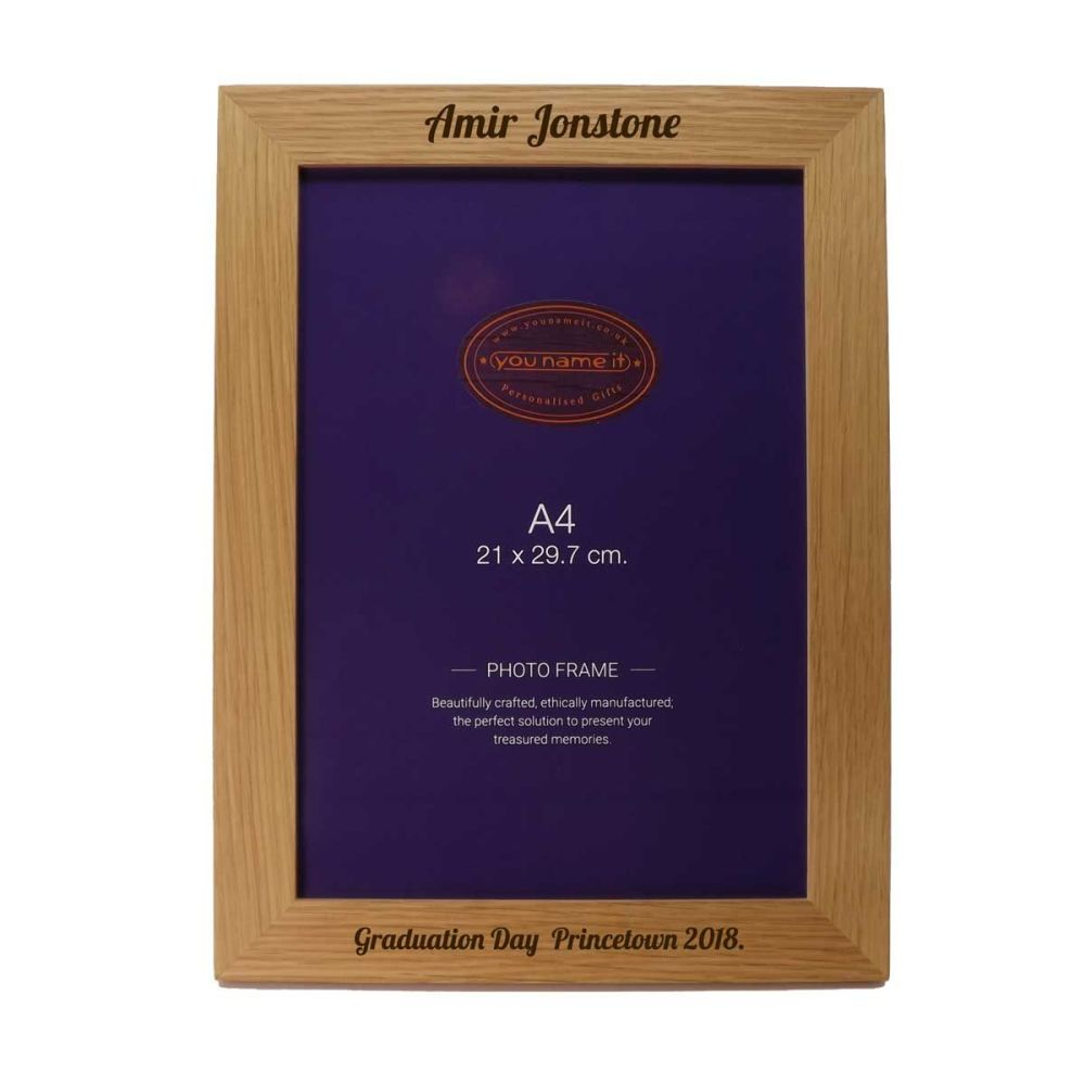 Personalised Wooden A4 Picture Frame