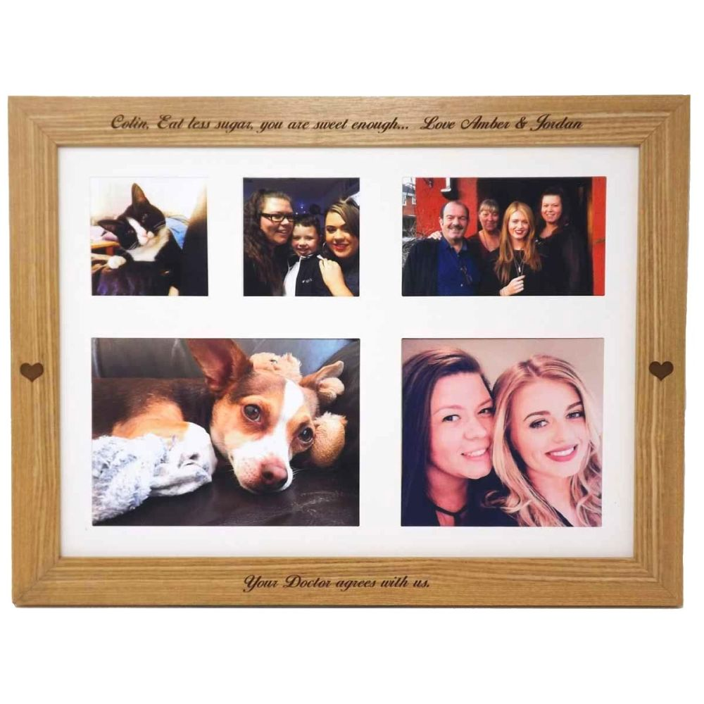 Lap Tray with engraved hearts and personalised with your text and your own