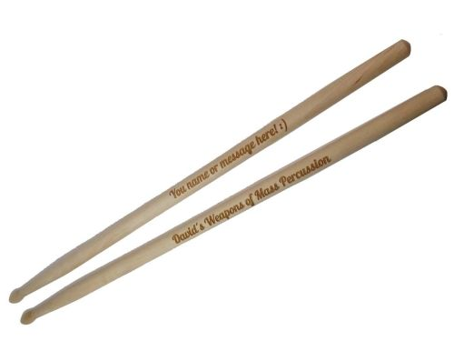 Personalised Wooden Drumsticks - A Great Gift For Father's Day