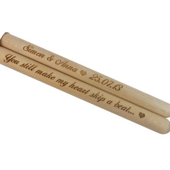Personalised Wooden Drumsticks - A Great Gift for Valentine's Day
