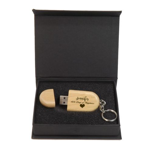 Anniversary Personalised Wooden Memory Stick 4GB