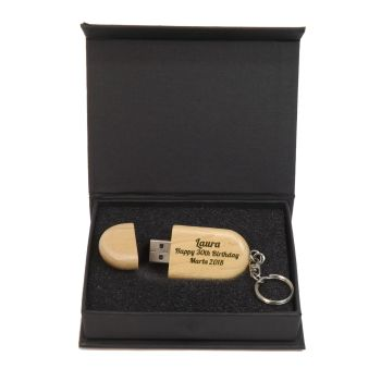 Birthday Personalised Wooden Memory Stick 16GB