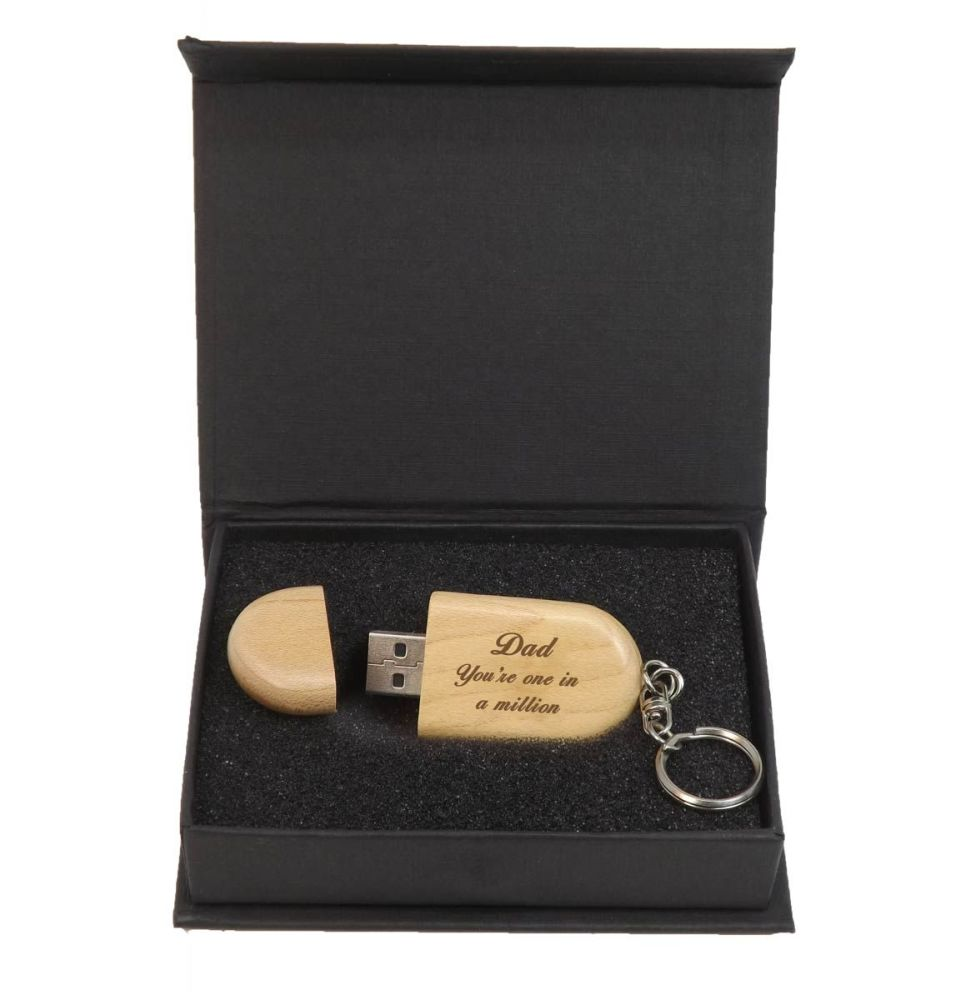 Father's Day Personalised Wooden Memory Stick 4GB