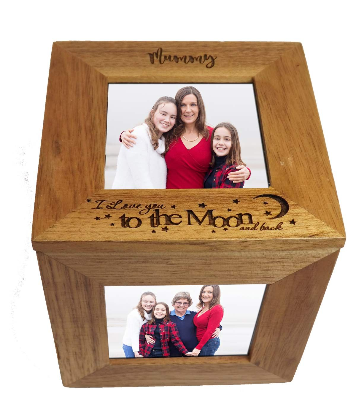 Oak Wood Photo Cube - A beautiful Mother's Day gift and keepsake