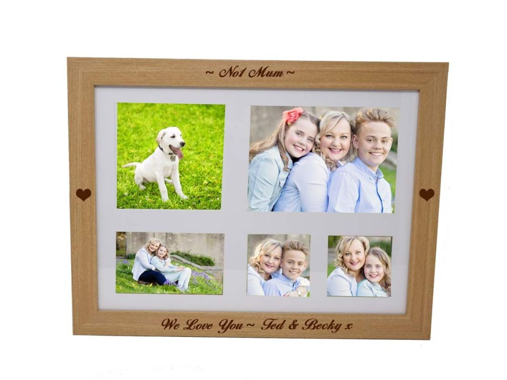 Personalised photo lap tray engraved with your choice of names or message f