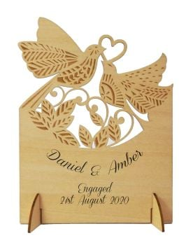 Wooden Personalised Engagement Card