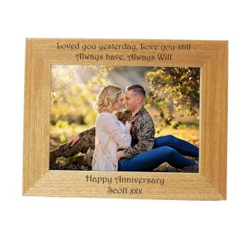 Personalised 7x5 Ash Photo Frame - Perfect Anniversary gift *NEW RANGE LOWER PRICE*