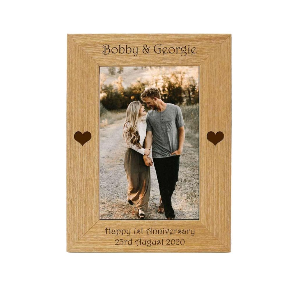 Anniversary Personalised 6x4 Ash Photo Frame *NEW RANGE LOWER PRICE*
