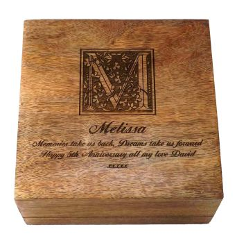 Personalised Wooden Keepsake / Memory Box, a great gift for all ages.