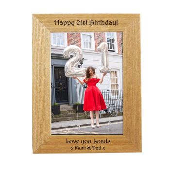Personalised 7x5 Ash Photo Frame - Perfect Birthday gift *NEW RANGE LOWER PRICE*