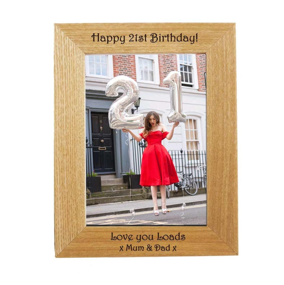 Personalised 7x5 Ash Photo Frame - Perfect Birthday gift *NEW RANGE LOWER P