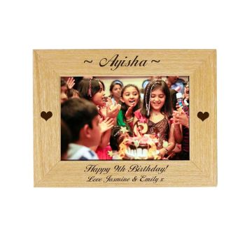Personalised Birthday 6x4 Ash Photo Frame, *NEW RANGE LOWER PRICE*