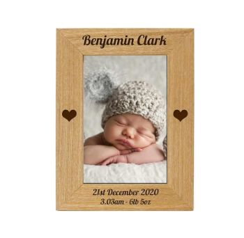 Personalised Christening 6x4 ASH Photo Frame *NEW RANGE LOWER PRICE*
