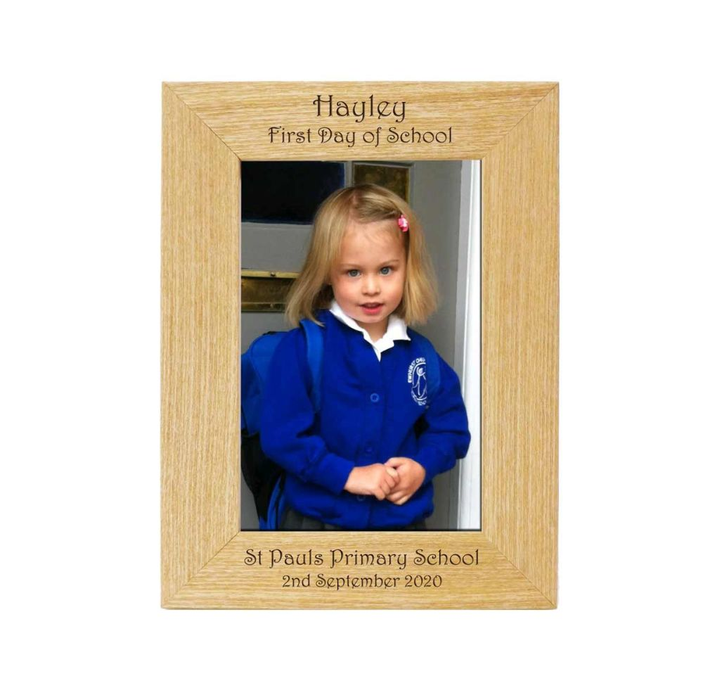 Personalised End Of Term 6x4 Ash Photo Frame *NEW RANGE LOWER PRICE*