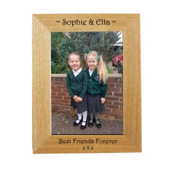 Personalised 7x5 Ash Photo Frame - Great End of Term gift *NEW RANGE LOWER PRICE*