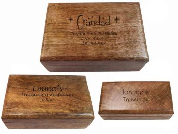 Personalised Wooden Oblong Keepsake Box, a great gift for all occasions.