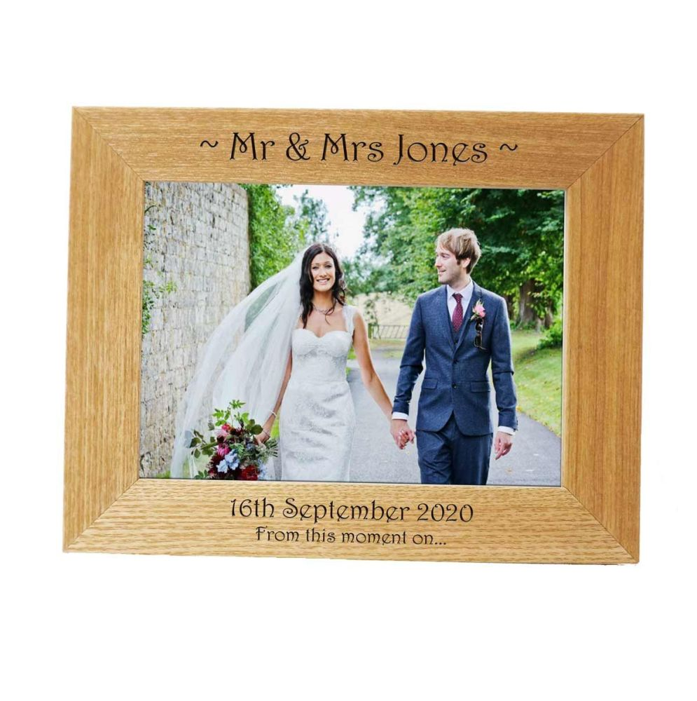 Personalised 7x5 Ash Wedding Photo Frame *NEW RANGE LOWER PRICE*