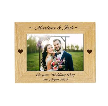 Personalised Wedding 6x4 ASH Photo Frame *NEW RANGE LOWER PRICE*