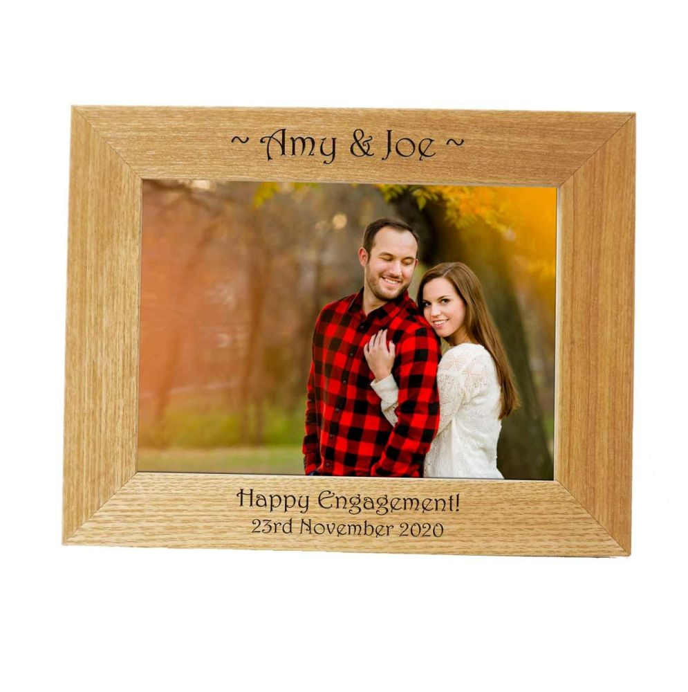 Personalised 7x5 Ash Photo Frame - Perfect Engagement gift *NEW RANGE LOWER
