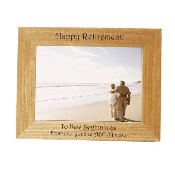 Personalised 7x5 Ash Photo Frame - Perfect Retirement gift *NEW RANGE LOWER PRICE*