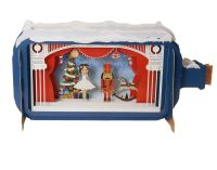 Pop up 3D Christmas Card with Nutcracker Scene