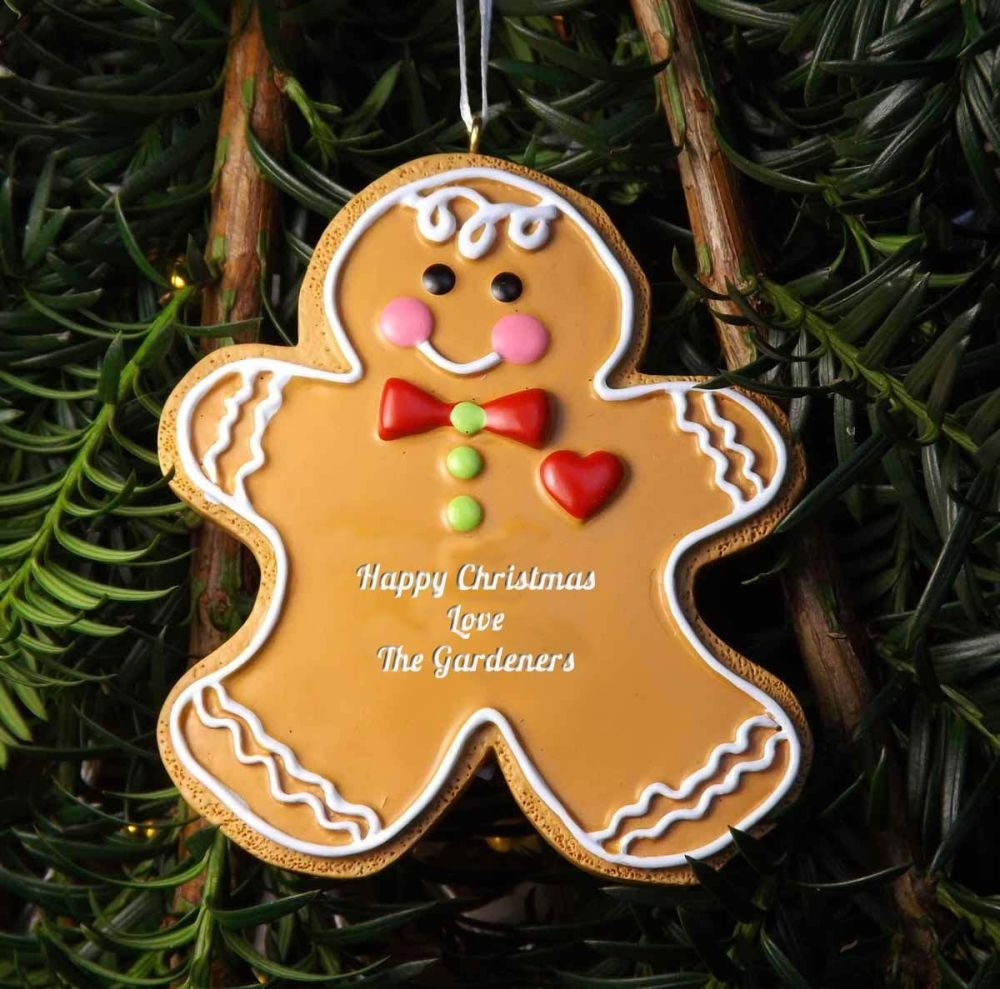 Gingerbread Man - Personalised Christmas Tree Decoration