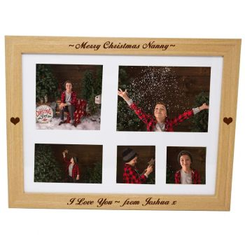 Personalised photo lap tray engraved with your choice of names or message
