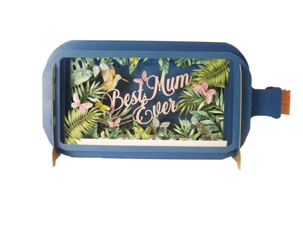 3D Pop Up 'Best Mum Ever' Greetings Card