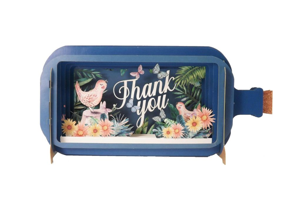3D Pop Up Thank You Greetings Card