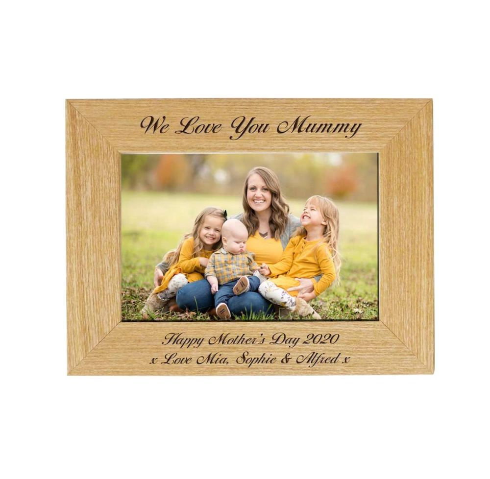 Mother's Day 6x4 Ash Frame personalised with your message.