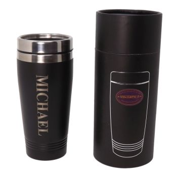 Personalised re-usable Black thermal Stainless-Steel travel mug