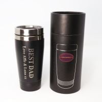 Father's Day Personalised re-usable Black thermal Stainless-Steel travel mug