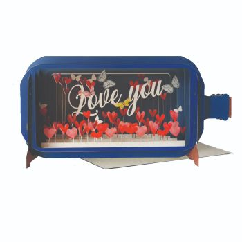 Pop up 3D Valentines Card - Love You