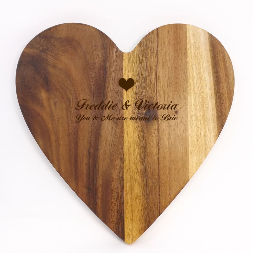 Personalised wooden chopping or serving board