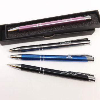 Personalised Pen engraved with individual name or messages