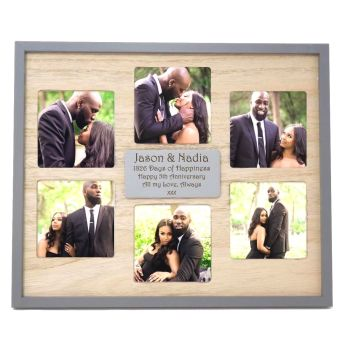 Multi Aperture Frame Personalised | A Unique 5th Anniversary Gift