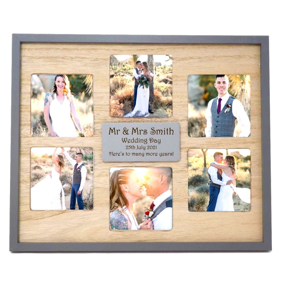 Multi Aperture Frame Personalised Laser Engraved With Your Choice of Words