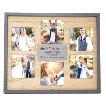 Multi Aperture Frame Personalised | Unique Wedding Gift