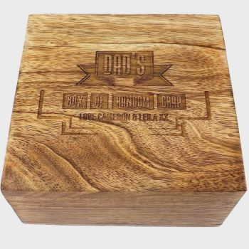 Solid  Wood Keepsake Box Personalised for a Unique Father's Day Gift .