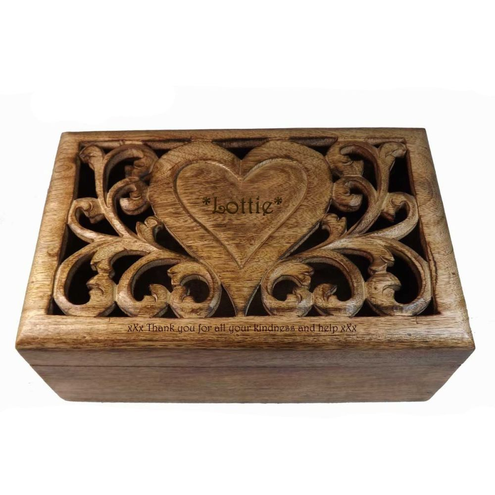 Personalised Solid Mango Wood Box | A Thoughtful Thank You Gift