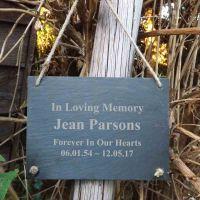 'In Loving Memory' Slate Memorial Hanging Plaque