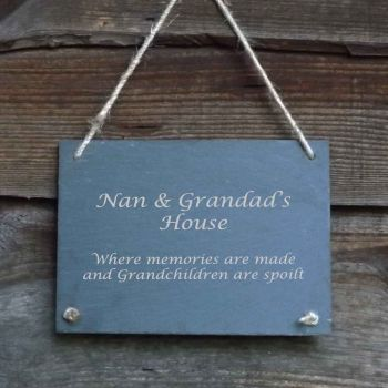 Personalised Hanging Door/Garden Slate Sign. Ideal for Birthdays!