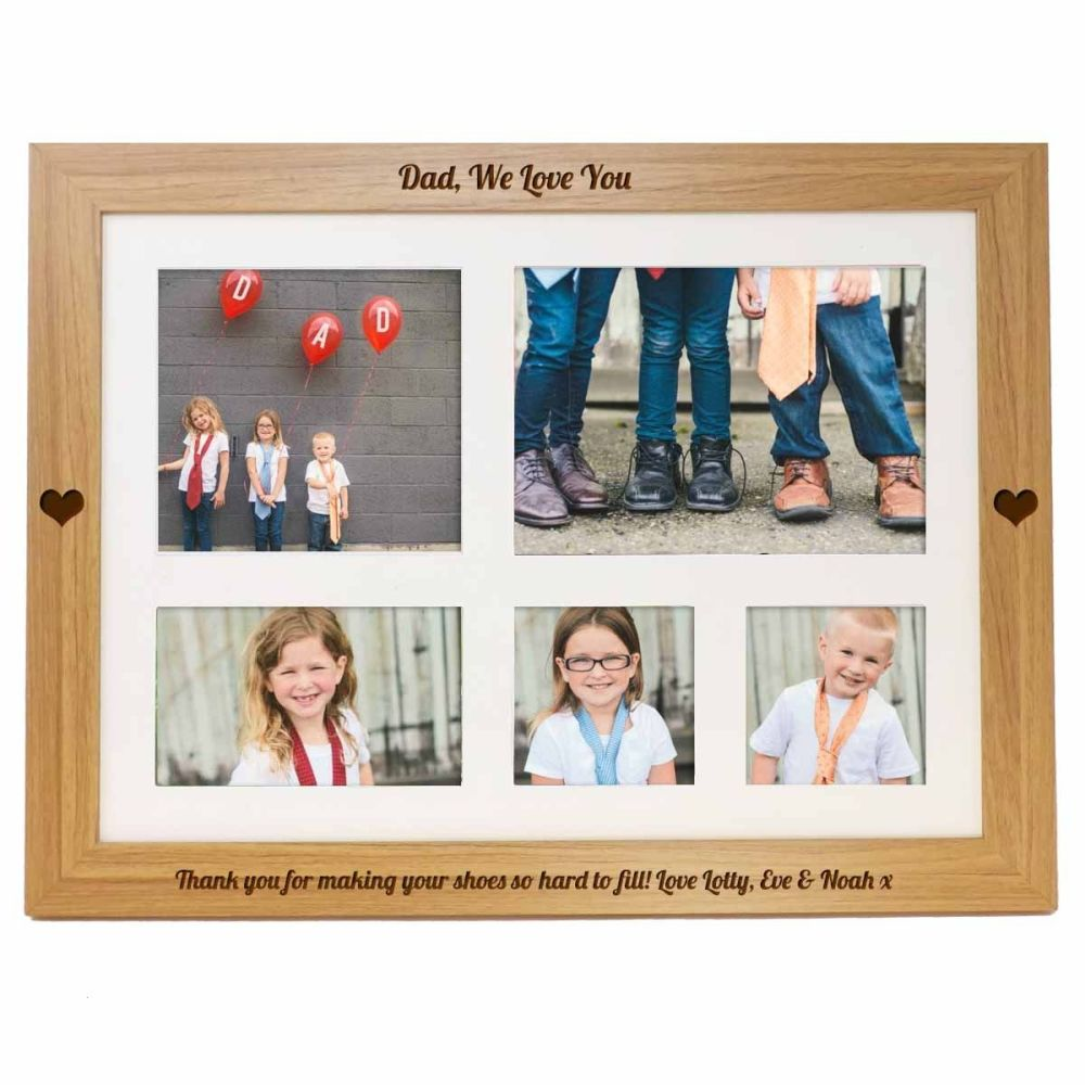 Father's Day Personalised photo lap tray engraved with your choice of names