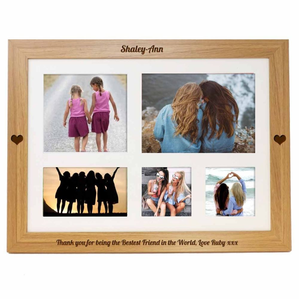 Personalised photo lap tray engraved with your choice of message. Perfect g