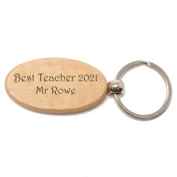 Teachers and End of Term Personalised Wooden Key Ring