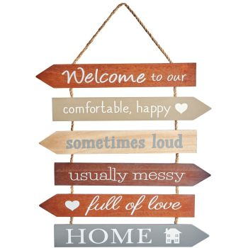 Multi Arrow Welcome Hanging Sign